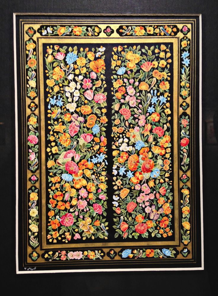 """Narges Ghasemi """"Garden"""" at The 9th Iranian National Biennal of Persian Painting at the The Saba Art & Cultural Institute in Tehran - December 2014"""