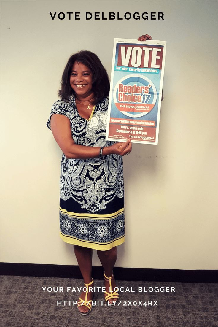 #Yourvote counts. Cast your #vote now for #AntoinetteBlake before Sep 4, 2017 and help her win the 2017 #bloggersaward. #DelBlogger would be #honored to have your vote as the #bestdelawareblogger. #Votenow for Antoinette Blake on the #DelawareNewsJournal (link provided on DNN). Please share with family, friends, and co-workers asking them to #support DelBlogger.com: the #bestblogger in #Delaware. DrewryNewsNetwork is a #DelBlogger supporter!
