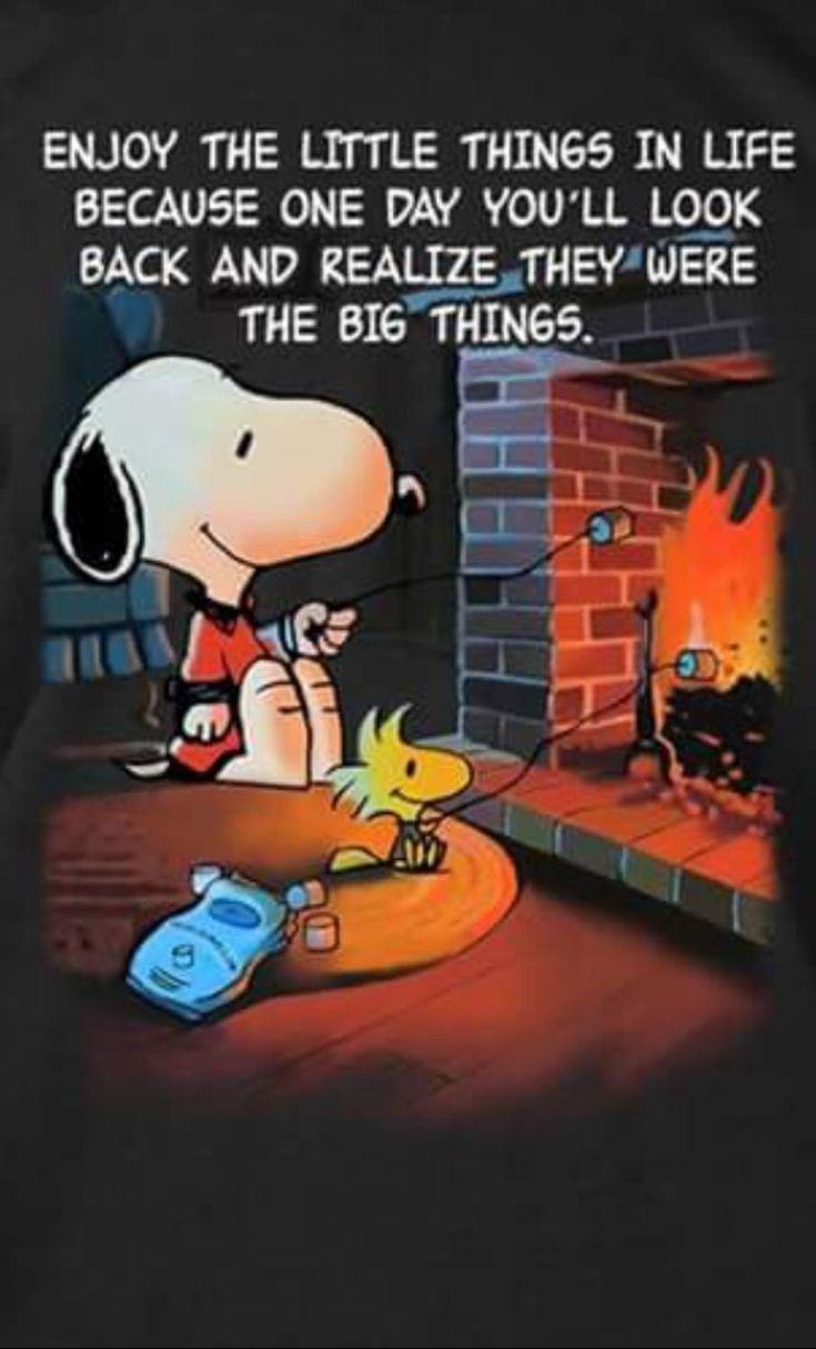 Enjoy The Little Things In Life #snoopy #life #blessed #friends #family