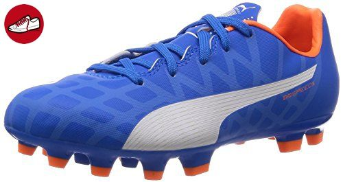 Puma evoSPEED 5.4 AG Jr, Unisex-Kinder Fußballschuhe, Blau (electric blue lemonade-white-orange clown fish 03), 37 EU (4 Kinder UK) - Puma schuhe (*Partner-Link)