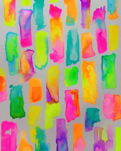 Blog — Niki Pilkington / Today's colour palette = neon. SHOCKER.  Can't wait to show you what I'm creating!  #colourpalette #colorpalette #neon #paint