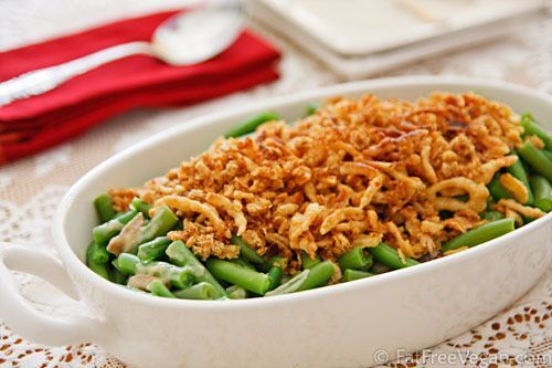 Vegan Green Bean Casserole is an absolute must for the holiday season!