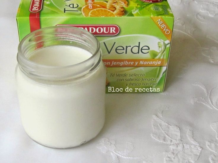 Bloc de recetas: Yogur de te verde con jengibre y naranja en yogurtera eléctrica