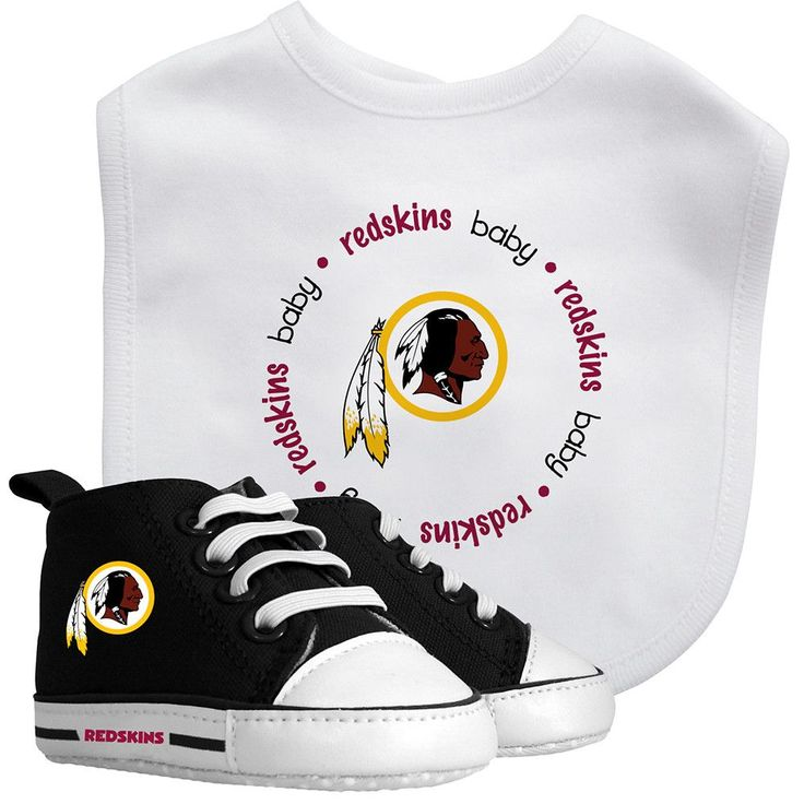 Washington Redskins Cotton Bib & Pre-Walker Baby Shoes Set