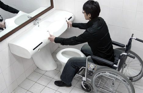 Universal toilet concept could replace handicap stalls   Modern Cabinet