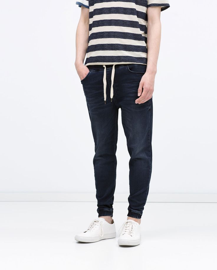 PANTALONI JOGGINGS-Denim-UOMO | ZARA Italia