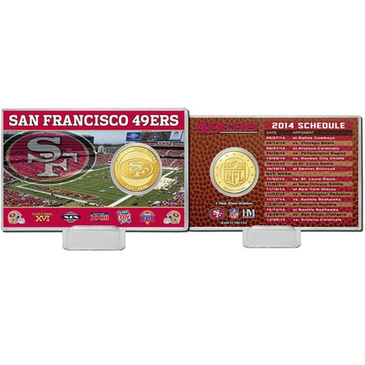 San Francisco 49ers Highland Mint Schedule Coin Card