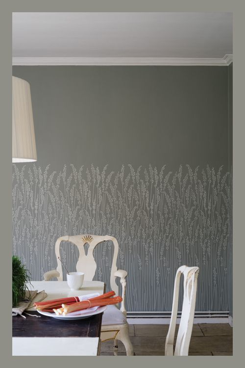 Farrow and Ball wallpaper Feather Grass> wow, simple and gorgeous!