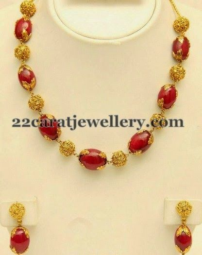 Latest Drops Necklace by VBJ | Jewellery Designs