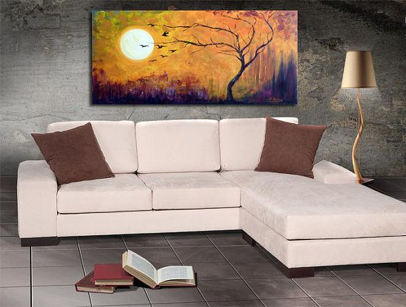 large art painting  abstract landscape modern by artstudioAreti