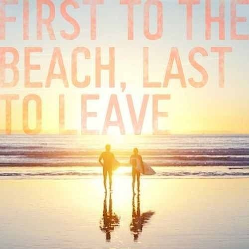 First to the Beach, Last to Leave. #KMLIFESABEACH