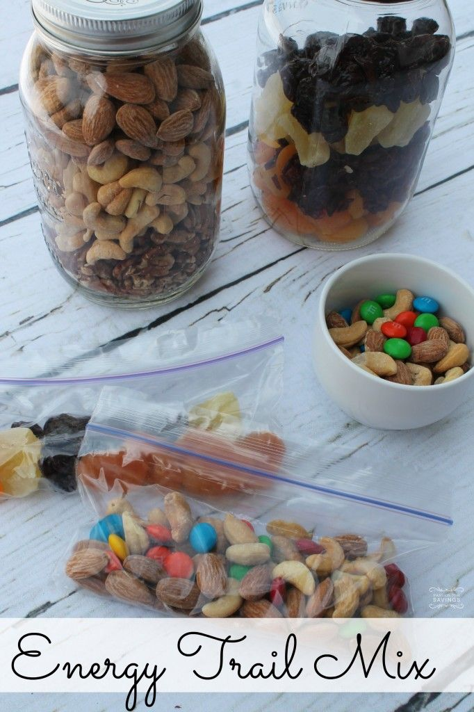 Try out this recipe for Energy Trail Mix. Perfect for after school snack or to stick in the backpack when out running around with the kids.