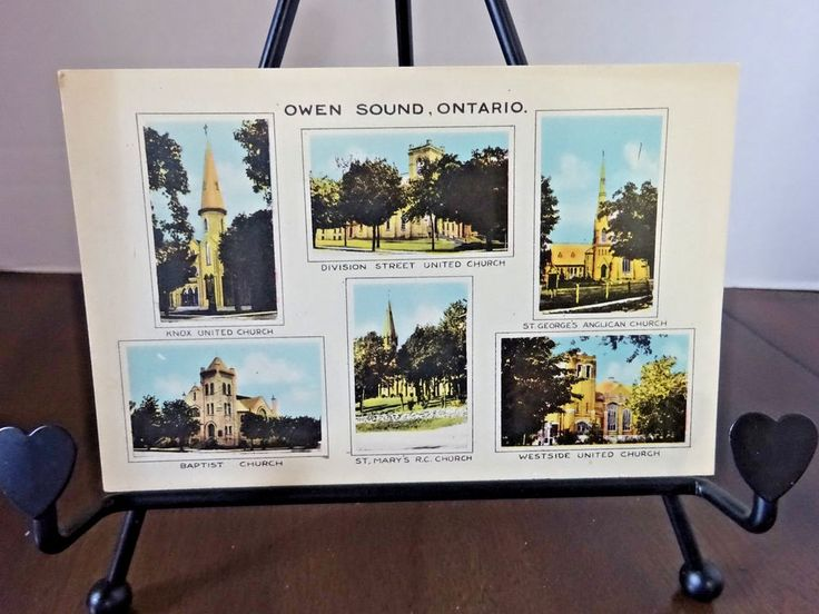 Owen Sound, Ontario, The Churches of Owen Sound, Vintage Postcard
