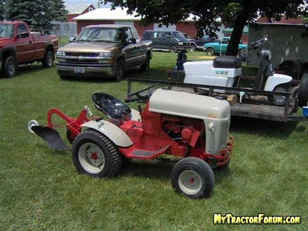 Custom Lawn Tractor Hood : Custom built garden tractors re ford n tractor