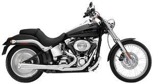 Image of SuperTrapp Kerker 2:1 Supermegs Exhaust Pipes Black Ceramic - Harley Davidson FLH and FLT Models 07 to 08 - 127-71576