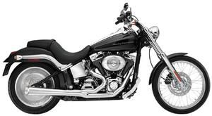 Image of SuperTrapp Kerker 2:1 Supermegs Exhaust Pipes Black Ceramic - Harley Davidson FLH and FLT Models 07 to 08 - 127-71576