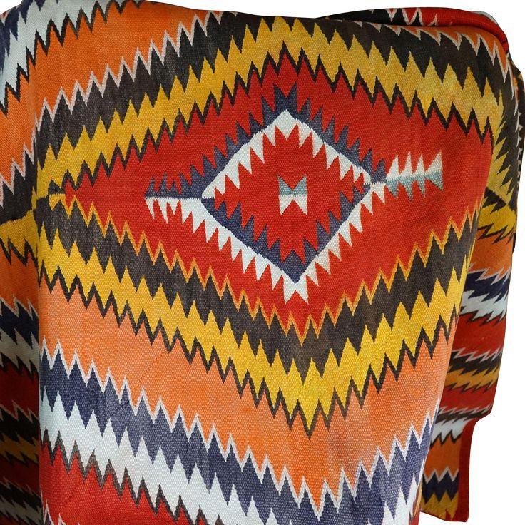 1880's Navajo Serape Transitional Blanket found at www.rubylane.com @rubylanecom