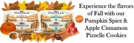 Repin! Apple Cinnamon and Pumpkin Spice Pizzelle for the Fall! #lowcalorie #pizzelle #cookie #fall #snack