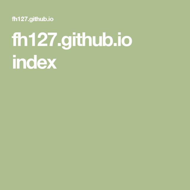 fh127.github.io index