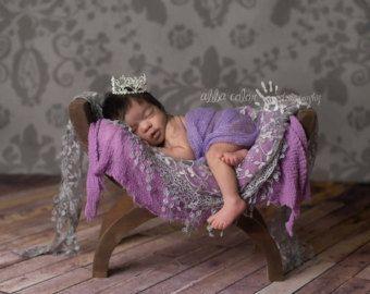Baby Girl Krone Neugeborenen Blume Silber Baby von SnassyCrafter
