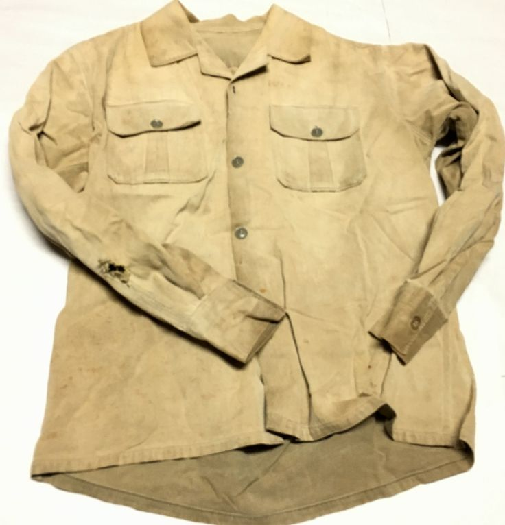 North Vietnamese Army Enlisted Shirt Khaki. Same early type shirt worn by Ho Chi Minh.