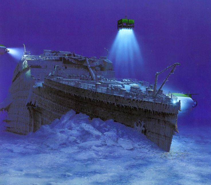 The remains of the Titanic were found in 1985 by Dr. Robert Ballard, an oceanographer and marine biologist with the Woods Hole Oceanographic Institution. When he located the Titanic, he saw that, as some survivors reported, the ship had broken apart. He believed the weight of the water-filled bow raised the stern out of the water and snapped the ship in two just before it sank. Debris falling out of the ship was strewn over a 1/2 mile across the sea floor. The bow and th...