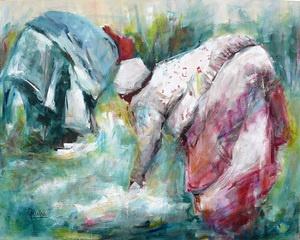 In the Fields web by Julia Forman Oil ~ 800 x 1000