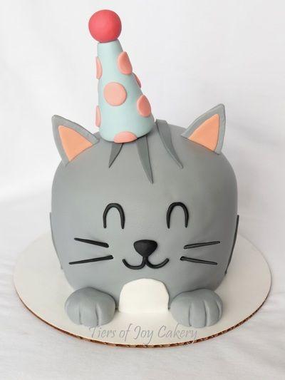 Birthday kitty cat cake.