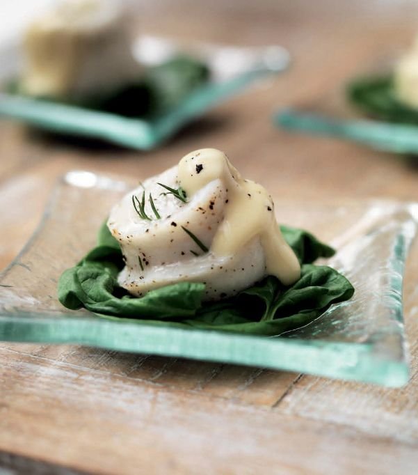 Miele Summer Recipe: Paupiettes of Lemon Sole with Wilted Spinach and Butter Sauce
