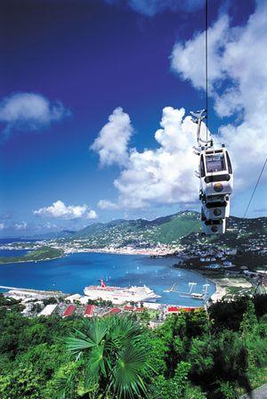 Paradise Point sky ride on St. Thomas, U.S. Virgin Islands.