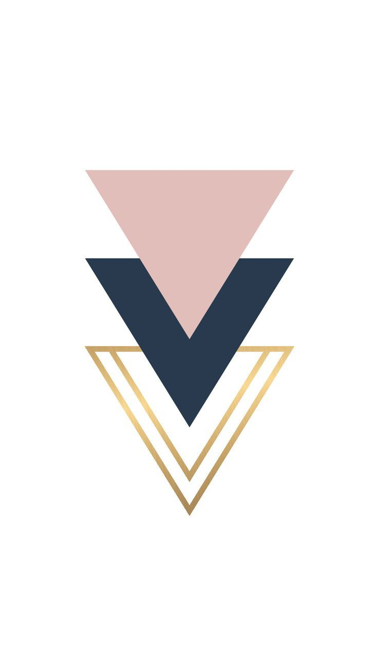 Iphone Wallpapers – Blush Navy gold foil triangle geo shapes wallpaper you can download for free on …