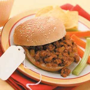 Make 2 different recipes - for the meat eaters, recipe is good as is, for the vegetarian (me), substitute Morningstar ground beef or sausage crumbles for the ground beef.