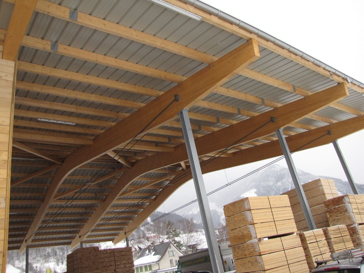 Double laminated solid wood beam duo neue holzbau ag for Real wood box beams