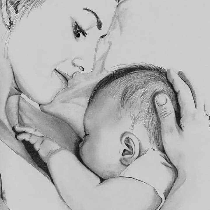 Картинки ко дню матери для срисовки карандашом