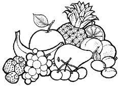 Resultado de imagen para imagenes de frutas para colorear para niños