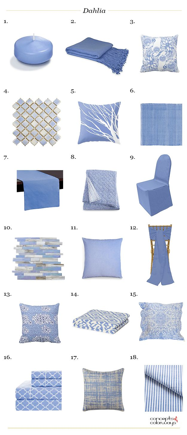 sherwin williams dahlia, interiors product roundup, get the look, color for interiors, color trends 2017, lavender blue, periwinkle