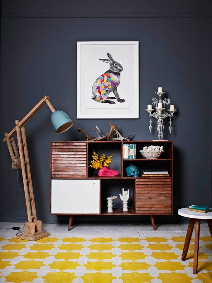 Wood and white and pops of colour with a few eclectic touches. Love. Fenton and Fenton