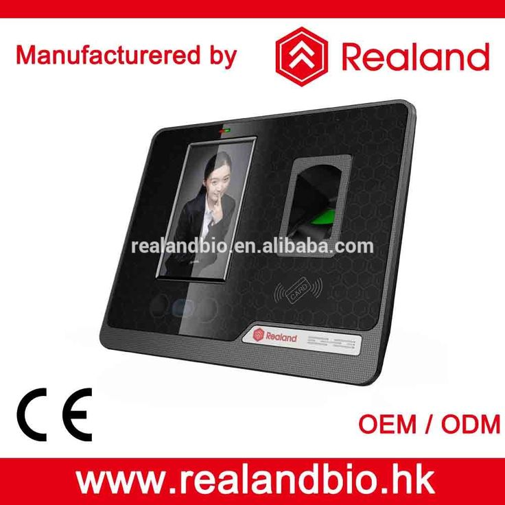 Realand F501 Black Blue Biometric Device Free Software Face Recognition Time Attendance System 5000 Enrollments Capacity