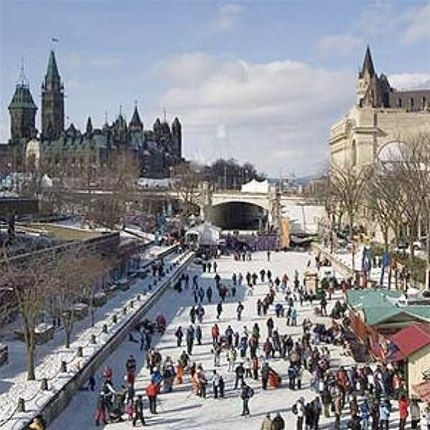 Skate on Ottawa's Rideau Canal (© Ottawa Tourism) the city I live in.