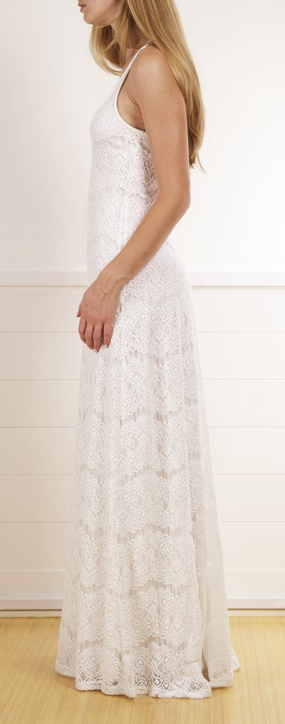 Heenalu Maxi dress by Seaton in a crisp summer white
