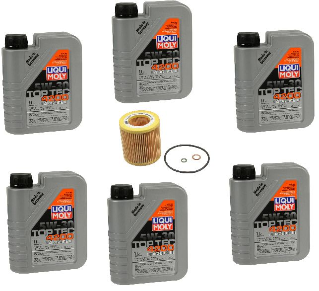 BMW 335i Oil Change Kit  Liqui Moly  Mann Filter  Oil change