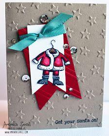 Amanda Sevall Designs: {JAX Starz Blog Hop} 365 Cards: Get Your Santa On!
