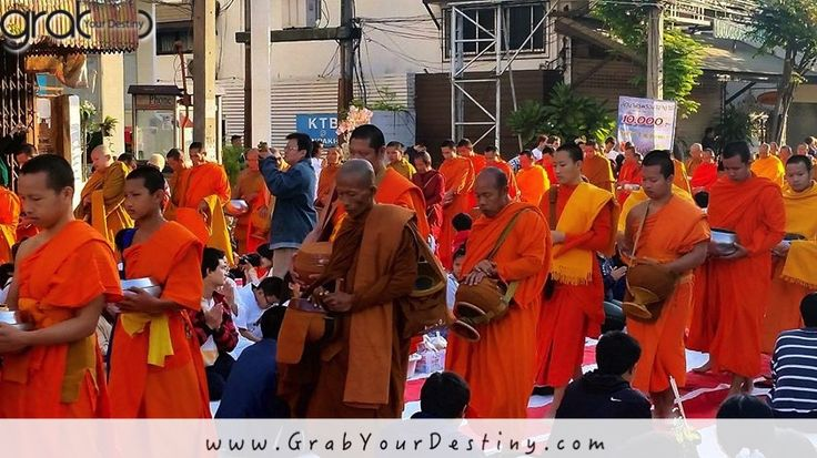 Chiang Mai Early Morning Alms Offering To The Buddhist Monks, Thailand…. #Travel #GrabYourDestiny #Buddhist #Monks #JasonAndMichelleRanaldi #AlmsOffering #ChiangMai #Thailand   www.GrabYourDestiny.com