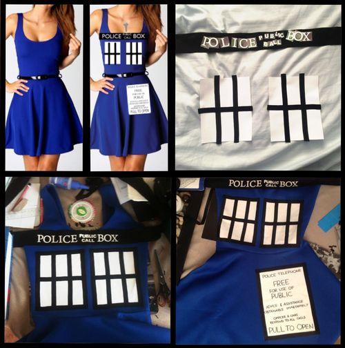 Doctor Who Tardis Dress DIY @Teresa Selberg Selberg Duenas
