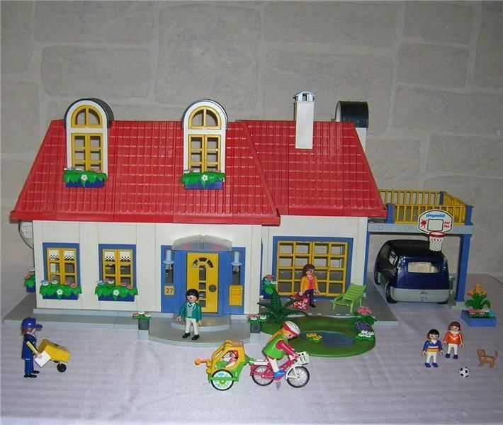 Playmobil 3965 MODERN DOLLHOUSE LOT Furnished - Full Rooms, Tons of ACCESSORIES #PLAYMOBIL