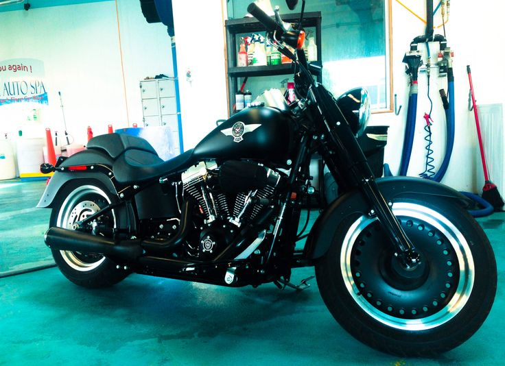 Gorgeous #Harley detailed at Car Pride Auto Spa. Happy Hump Day!!