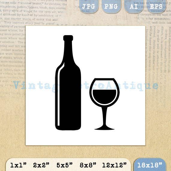 Digital Printable Wine Image Download Wine by VintageRetroAntique