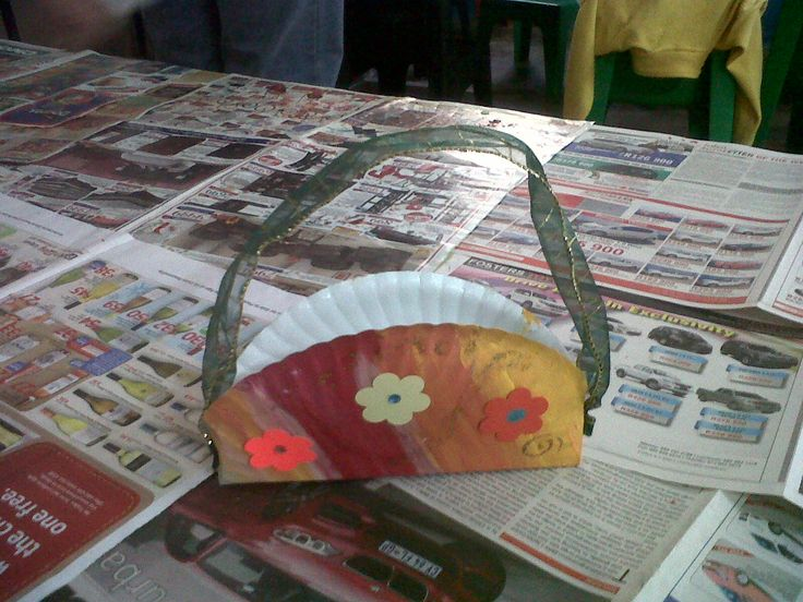 Paperplate basket