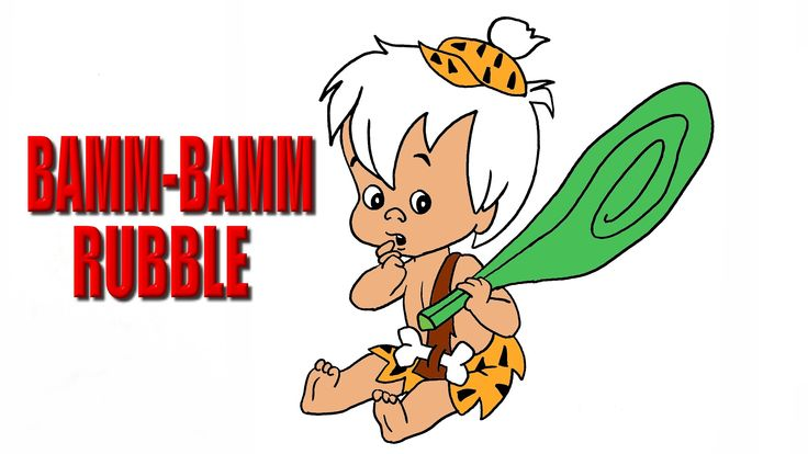 "Bamm-Bamm Rubble is the Rubbles' preternaturally strong adopted son, whom they adopt during the fourth season; his name comes from the only phrase he ever speaks as a baby: ""Bamm, Bamm!"""