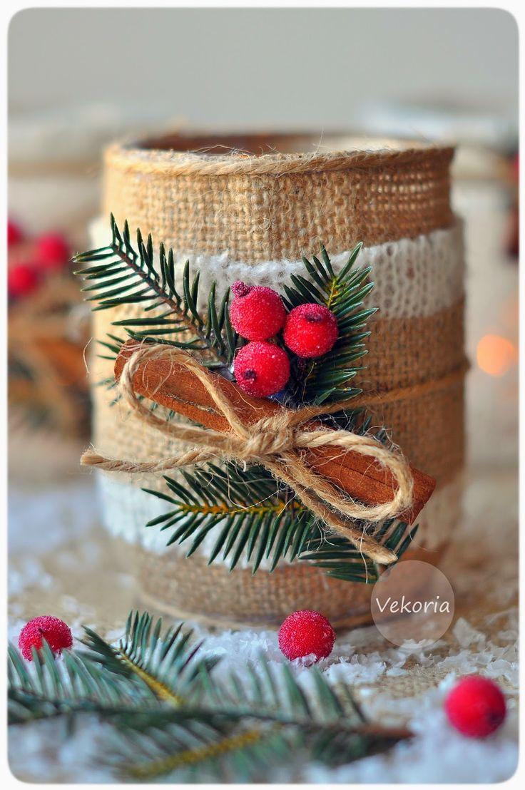 Vekoria.Творческий стеллаж Виктории Сокур: Мастер-класс : Новогодний подсвечник